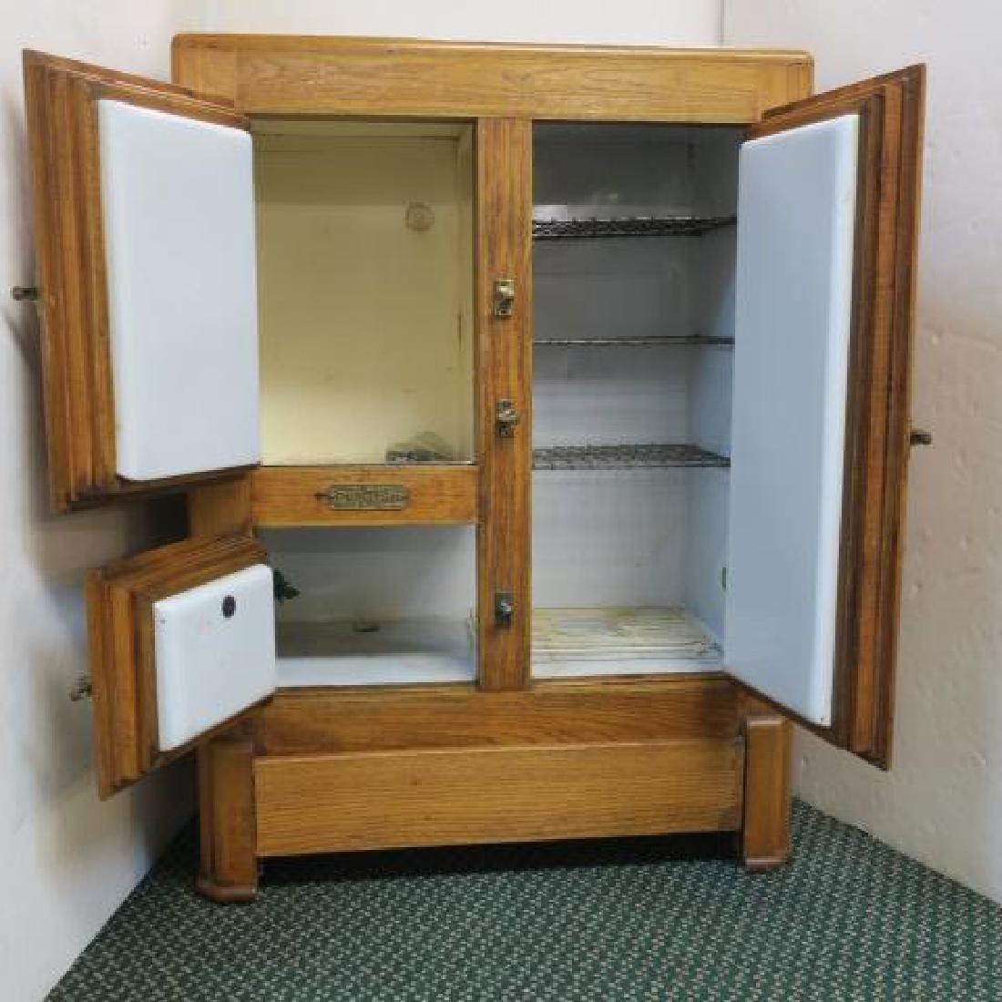 L H MACE Co. Puritan Oak Ice Box: - 3