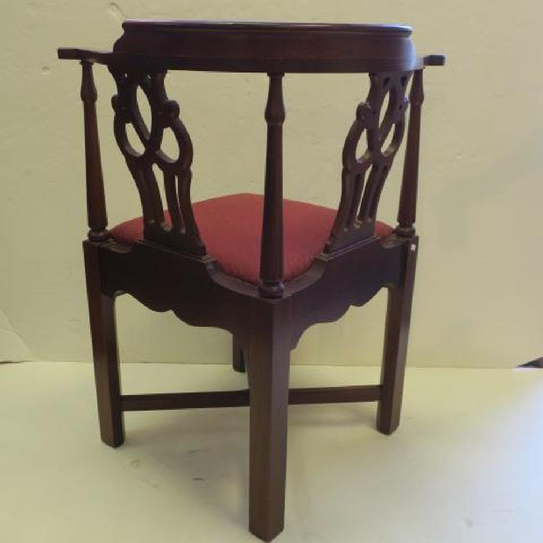 Mahogany Chippendale Style Corner Chair: - 3