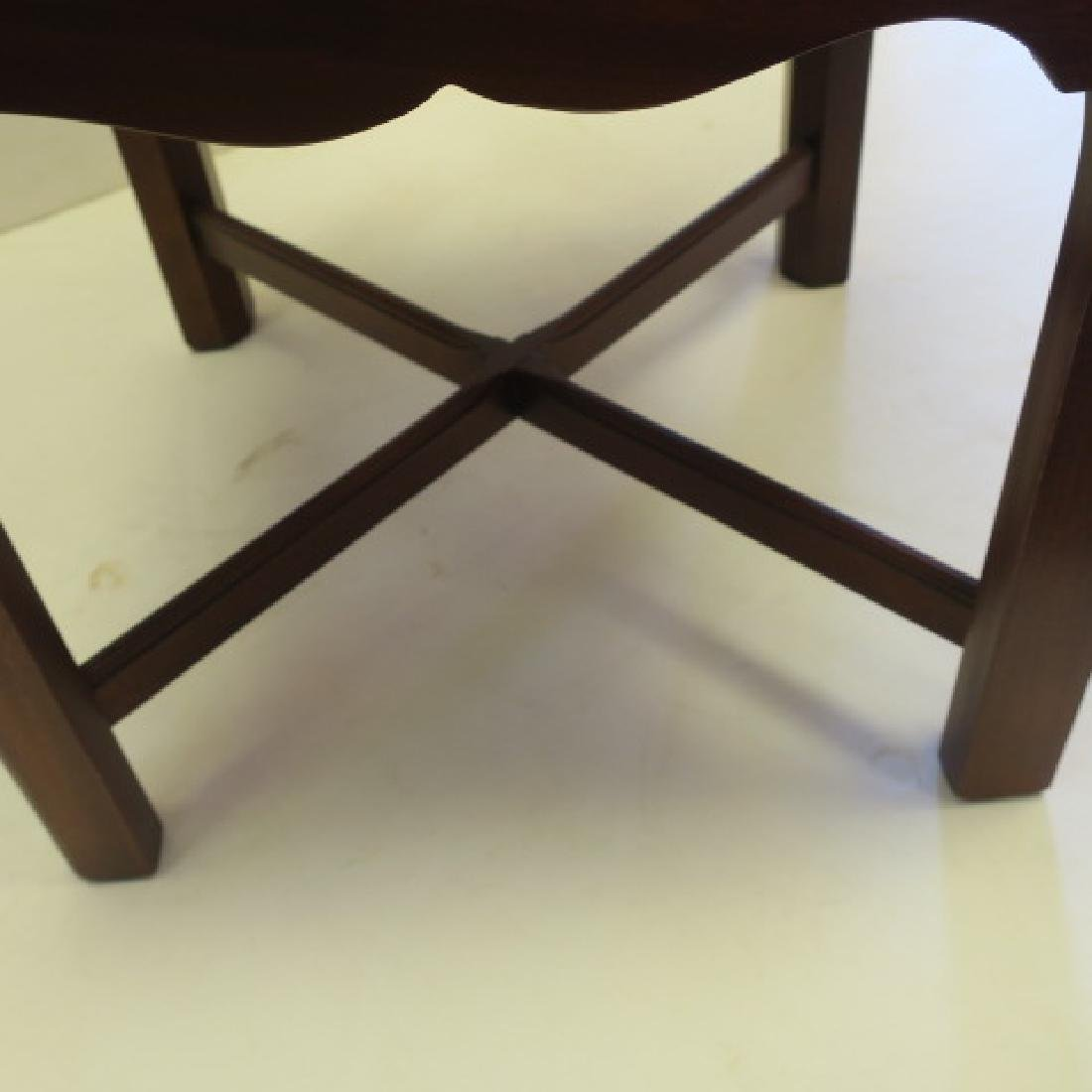 Mahogany Chippendale Style Corner Chair: - 4
