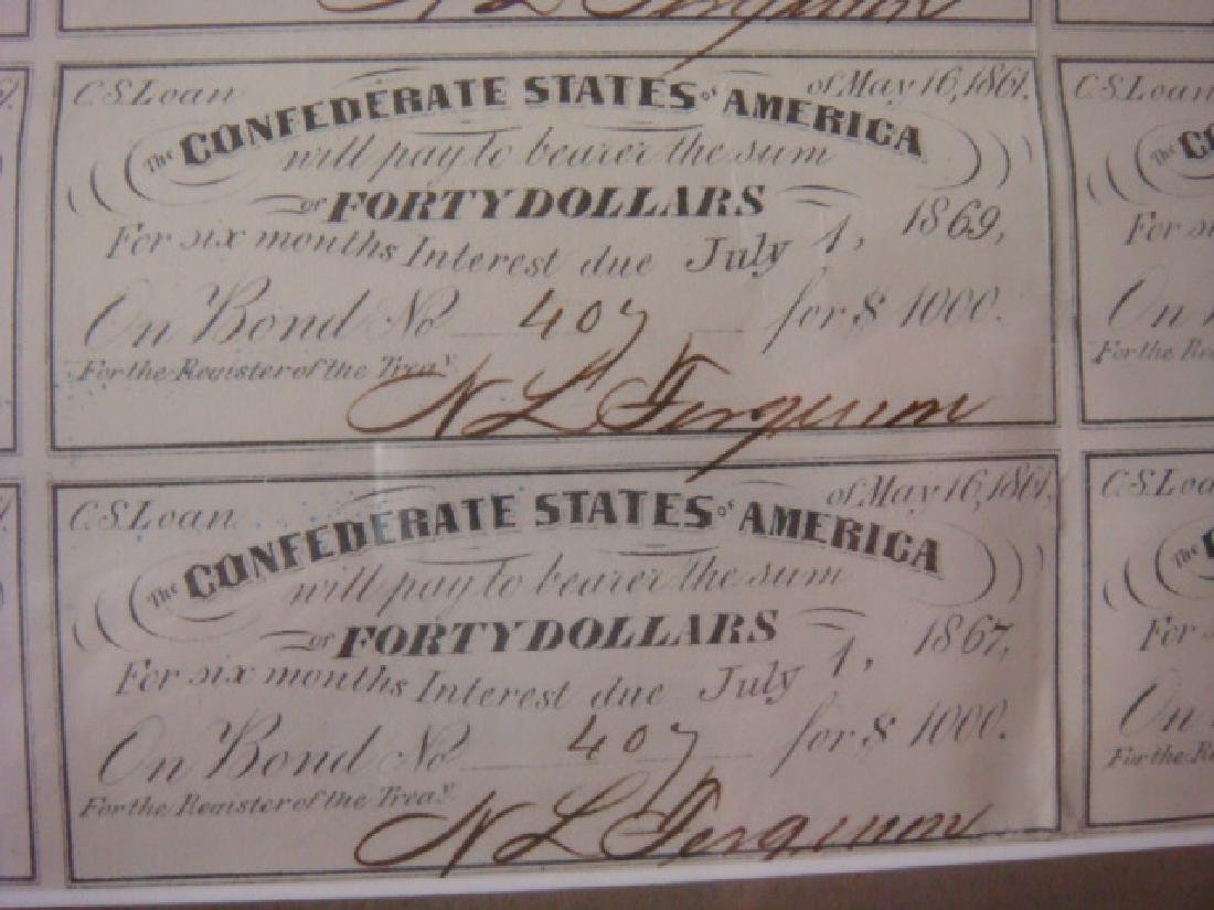 1861 $1000 CONFEDRATE STATES Bond and $100 Note: - 5