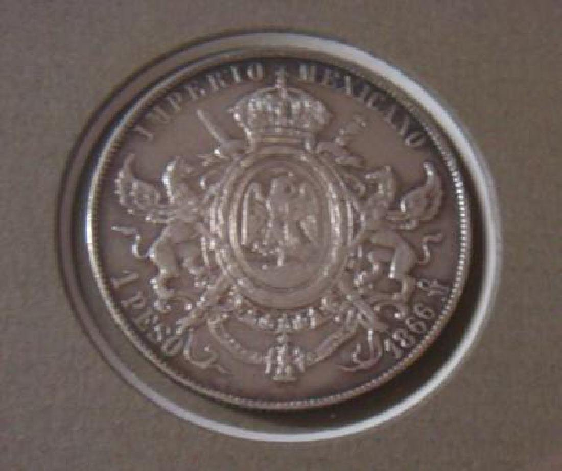 "L100 STERLING ""MAXIMILLIAN"" MEXICAN EMPIRE 1864 BOND: - 4"