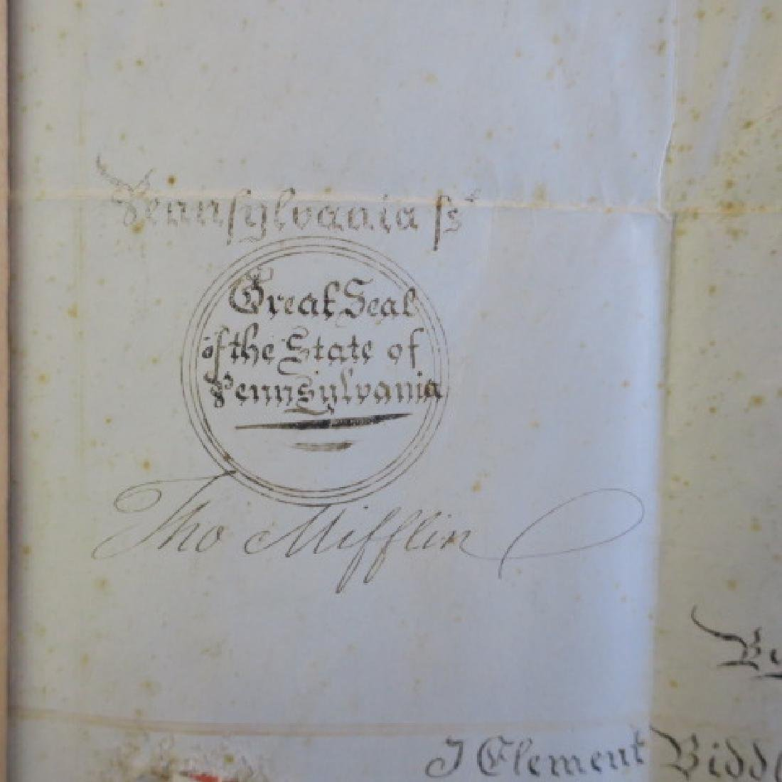 PENNSYLVANIA LAND GRANT, JOHN NICHOLSON, 1795: - 2
