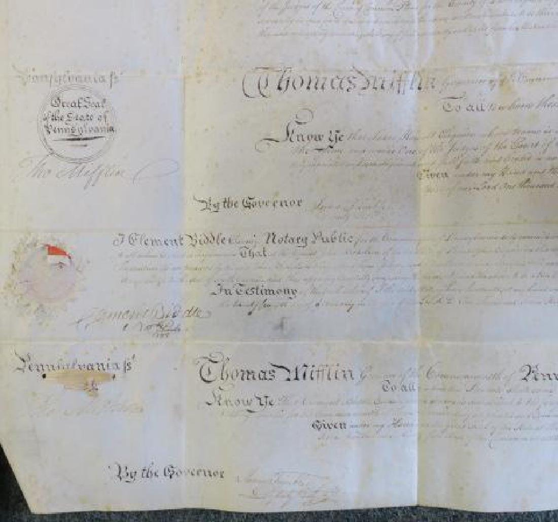 PENNSYLVANIA LAND GRANT, JOHN NICHOLSON, 1795: - 3
