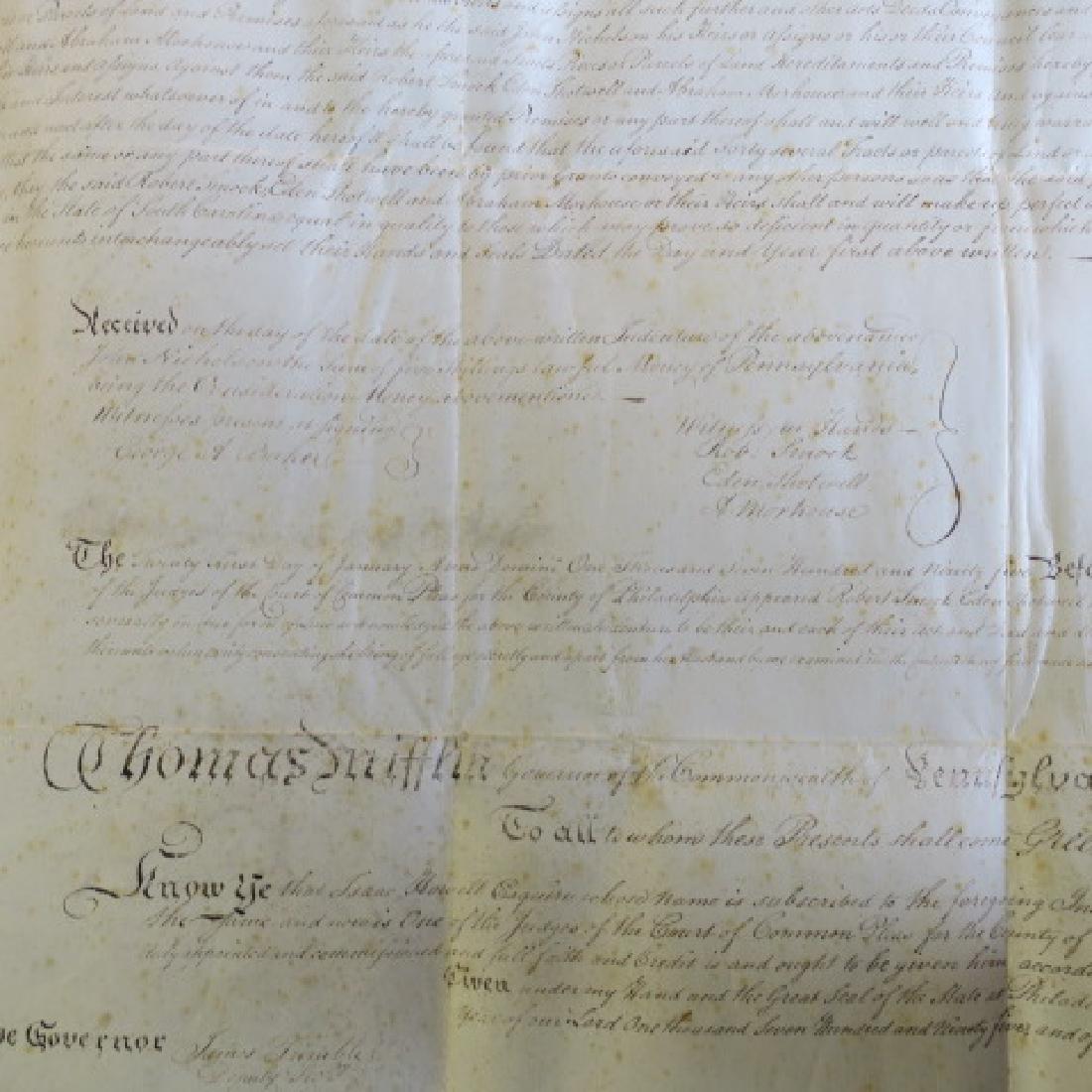 PENNSYLVANIA LAND GRANT, JOHN NICHOLSON, 1795: - 5