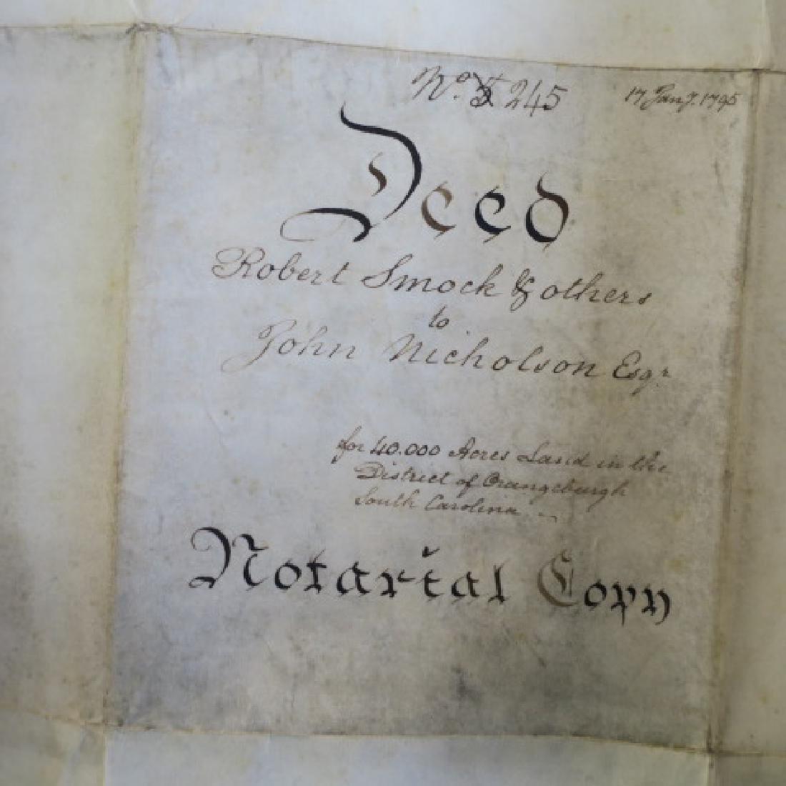PENNSYLVANIA LAND GRANT, JOHN NICHOLSON, 1795: - 6