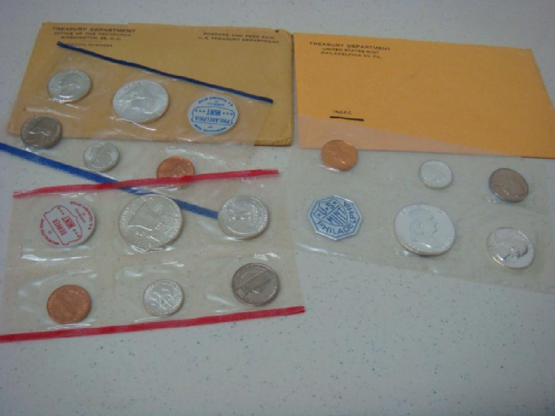 1960 and 1962 Uncirculated Mint Sets (2):