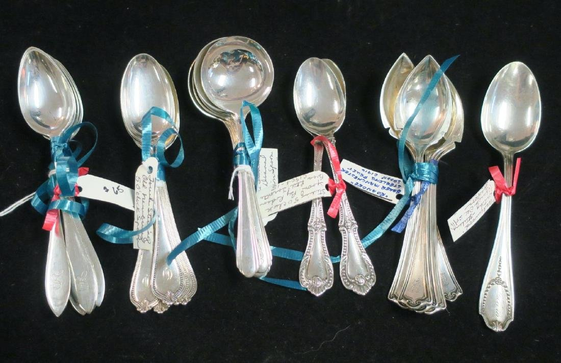 Twenty-Six Assorted Sterling Silver Spoons, 15.4 OZT: