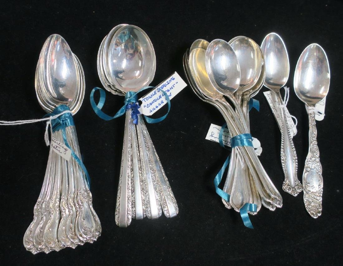 TOWLE Assorted Pattern Sterling Silver Spoons: