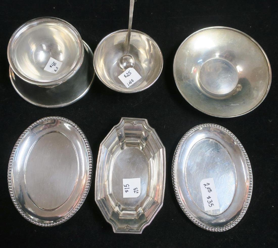 Sterling Assorted Coasters, Nut & Salt Dishes, Spoon: - 2