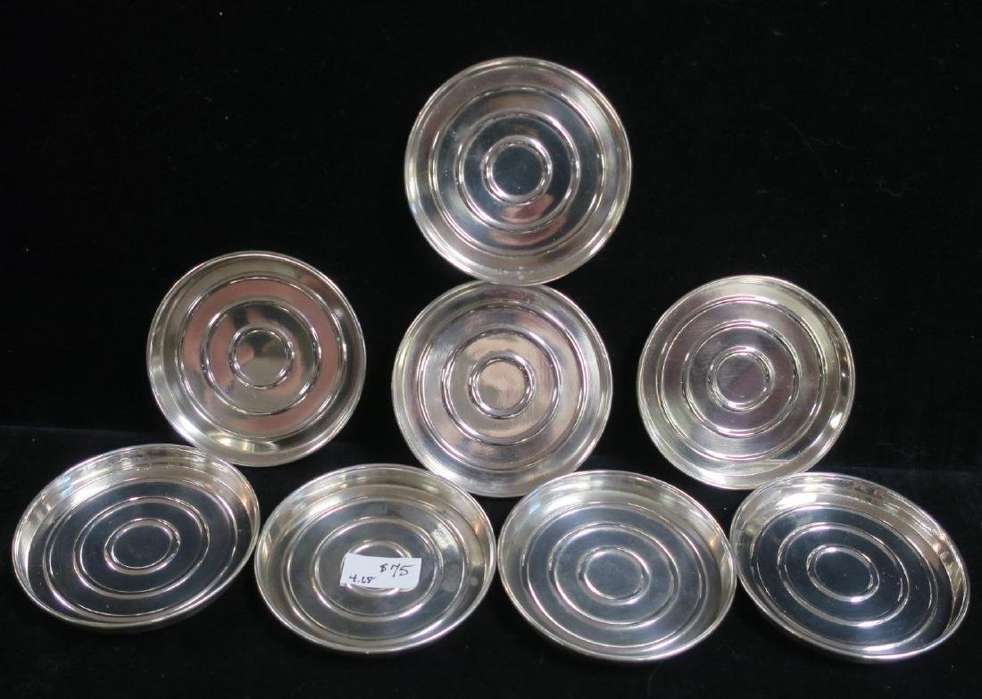 Sterling Assorted Coasters, Nut & Salt Dishes, Spoon: - 3