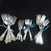 Assorted Makers Sterling Silver Forks:
