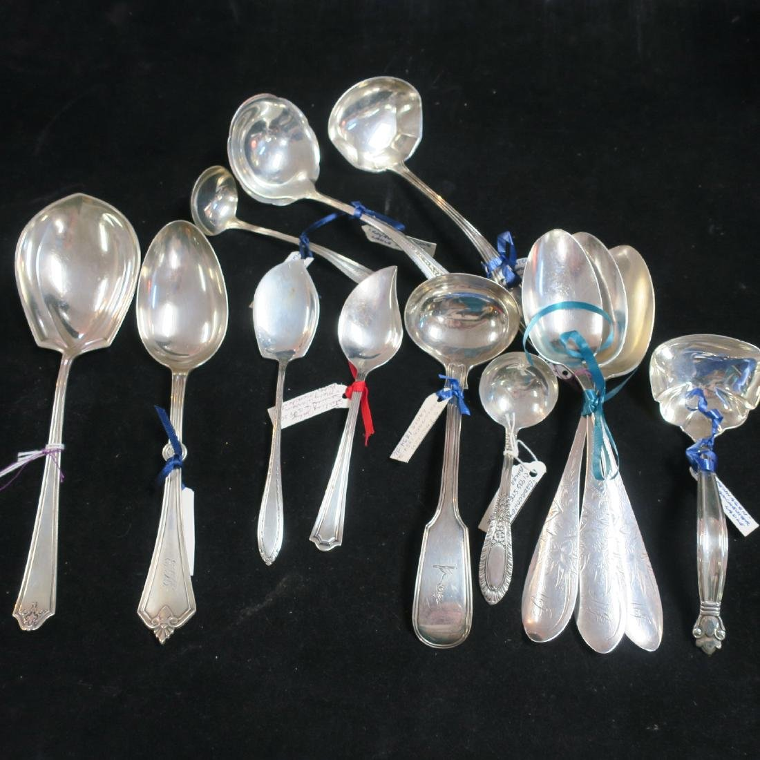 Assorted Maker Sterling Silver Ladles and Spoons:
