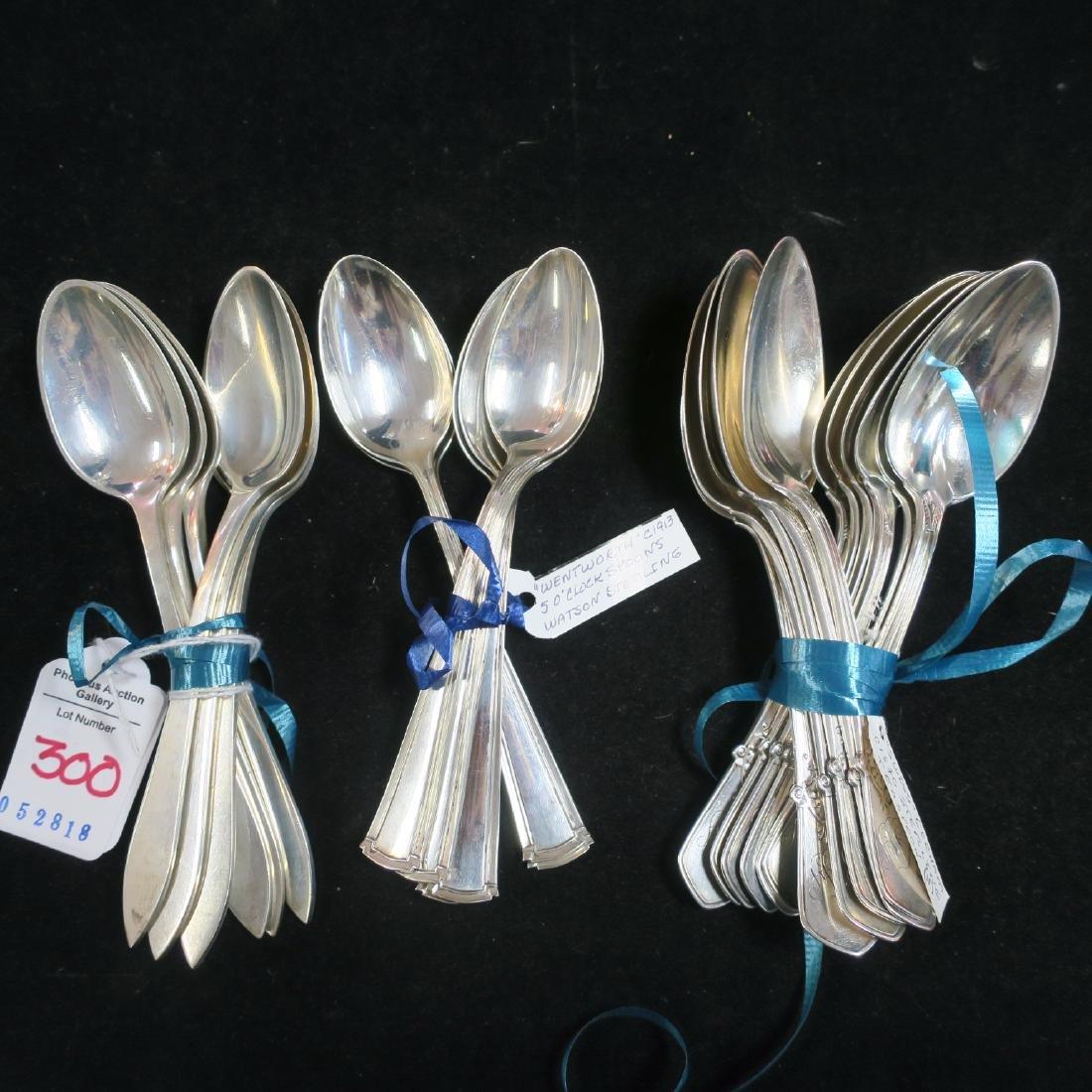 GORHAM, STEIFF & WATSON Sterling Silver Spoons:
