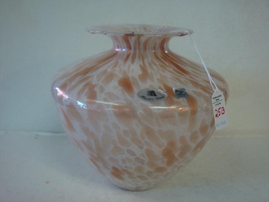 Maestro Vectra Italian Art Glass Vase: