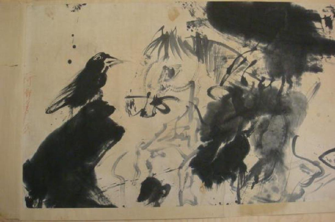 Rare & Early WALASSE TING Chinese Ink Brush Painting: - 2
