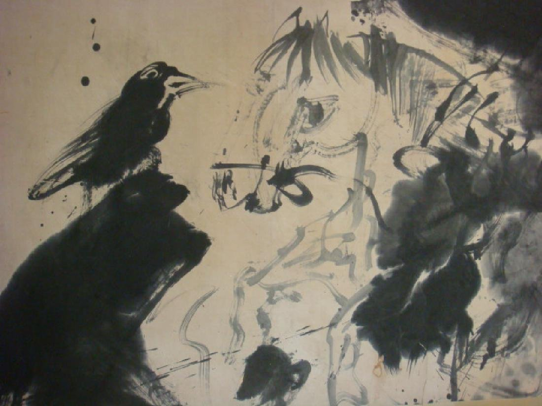 Rare & Early WALASSE TING Chinese Ink Brush Painting: - 4