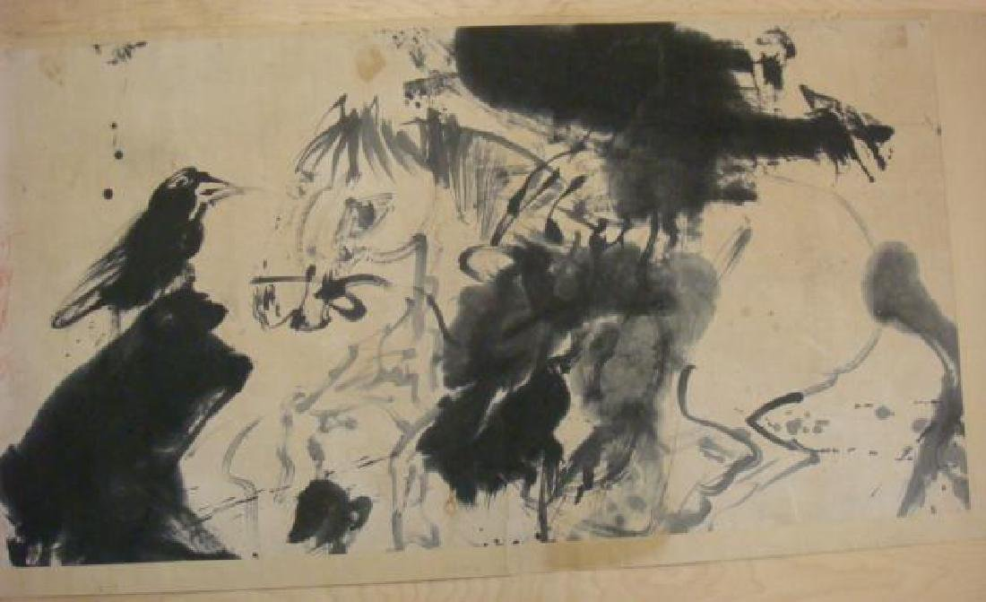 Rare & Early WALASSE TING Chinese Ink Brush Painting: - 5