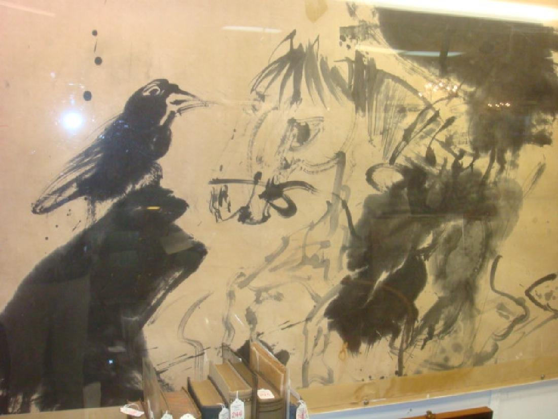Rare & Early WALASSE TING Chinese Ink Brush Painting: - 6