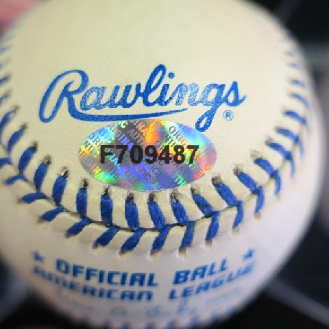 DAN MATTINGLY Autographed Baseball in Plastic Case - 3