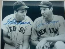 TED WILLIAMS & JOE DIMAGGIO Autographed Photo: