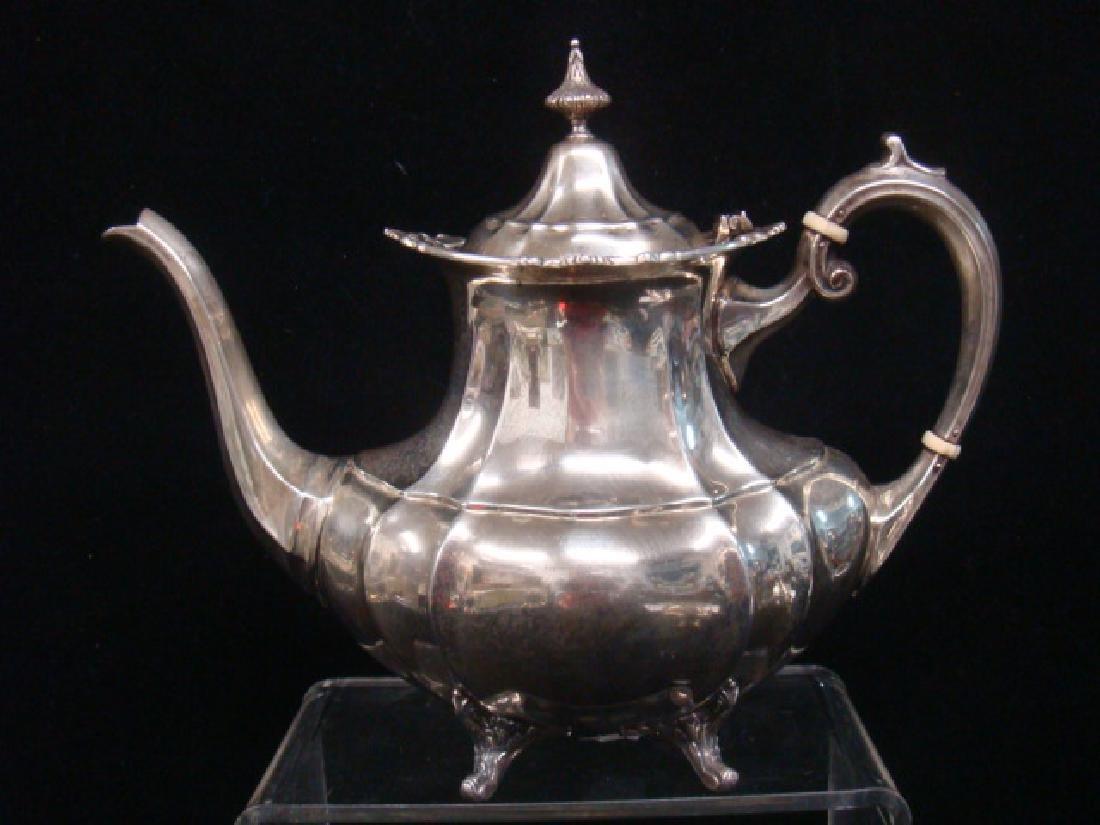 "Sterling Silver Reed & Barton ""Hampton Court"" Tea Set: - 2"