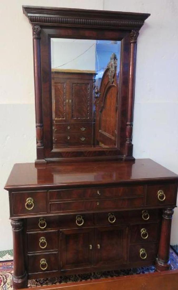 HENREDON 10 Drawer Dresser with Mirror: