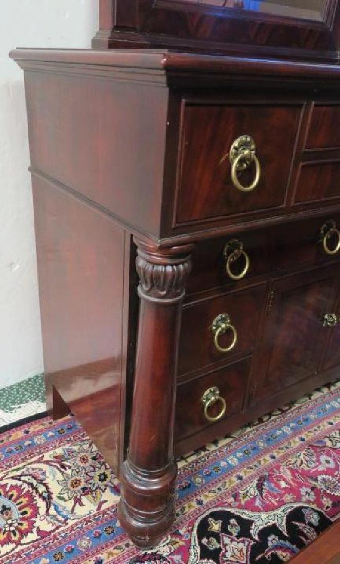 HENREDON 10 Drawer Dresser with Mirror: - 4
