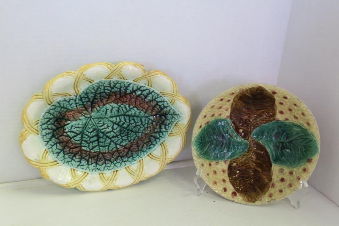 Five Pieces of Majolica Table Ware: - 2