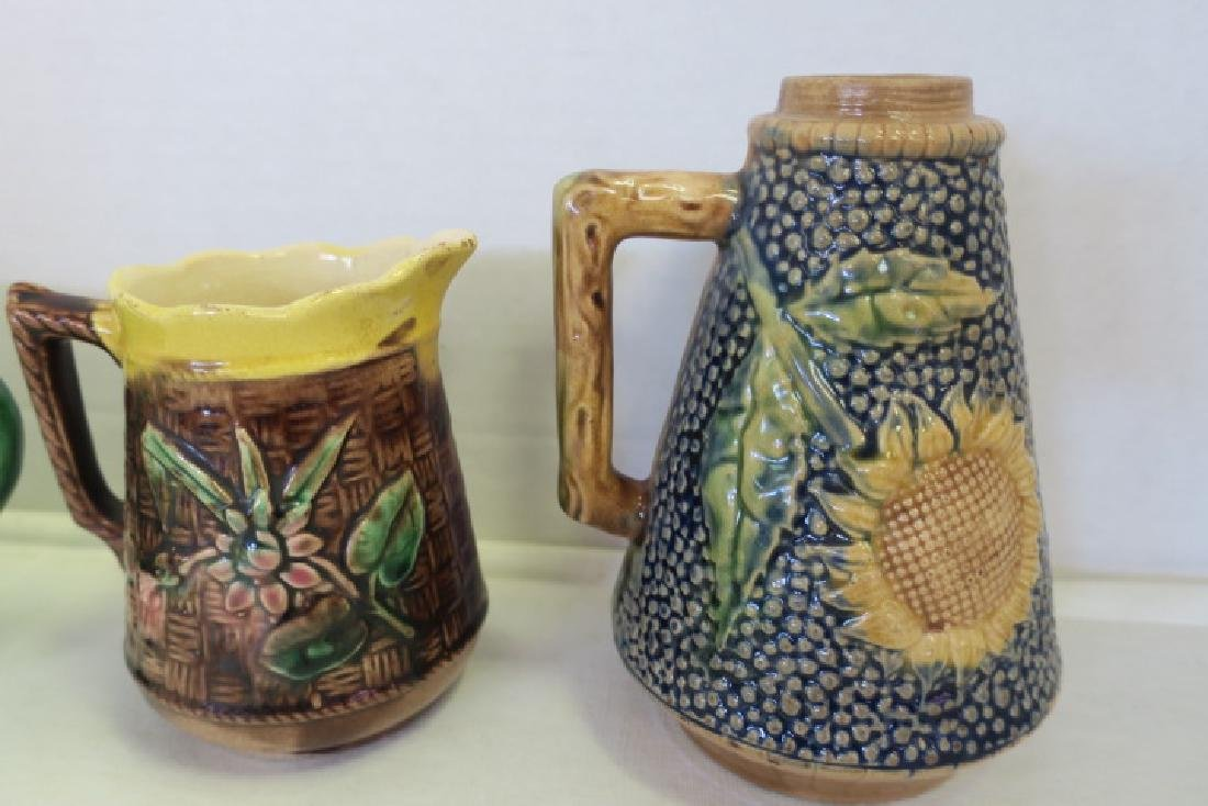 Five Pieces of Majolica Table Ware: - 4