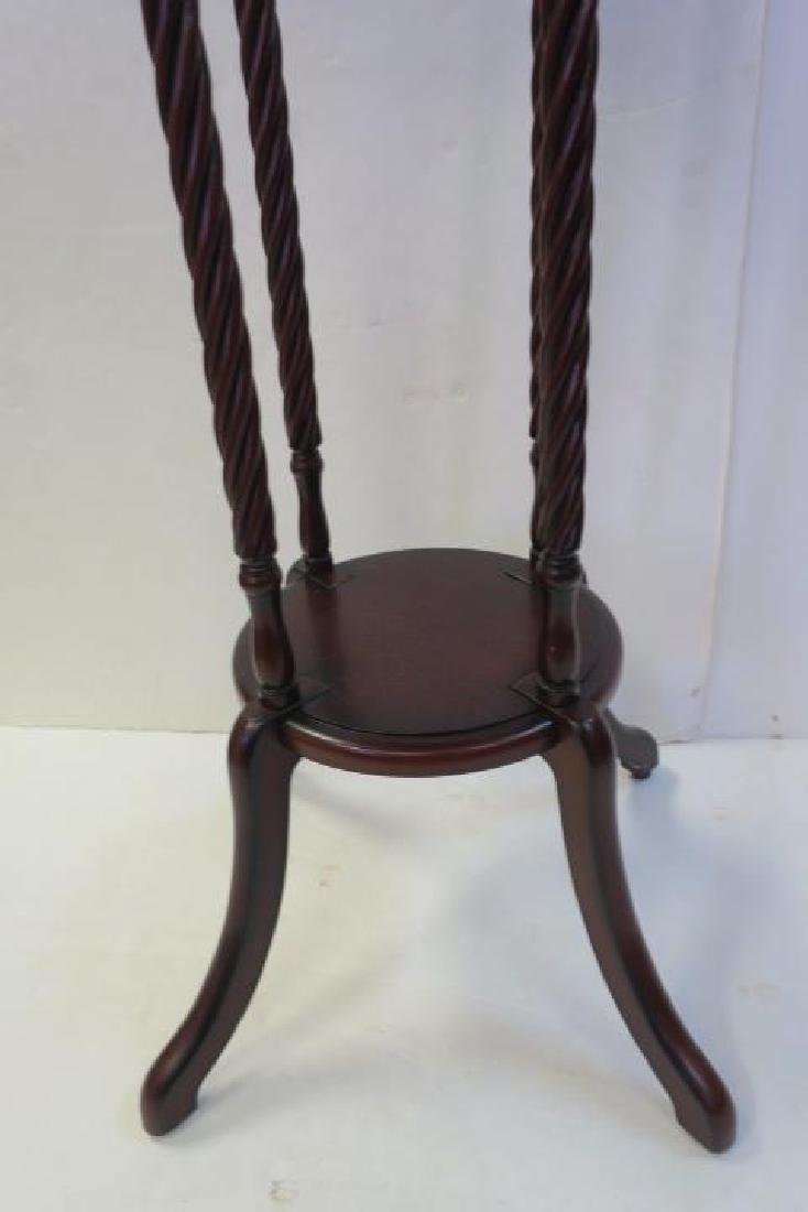 Two 20th Century Plant Mahogany Plant Stands: - 6