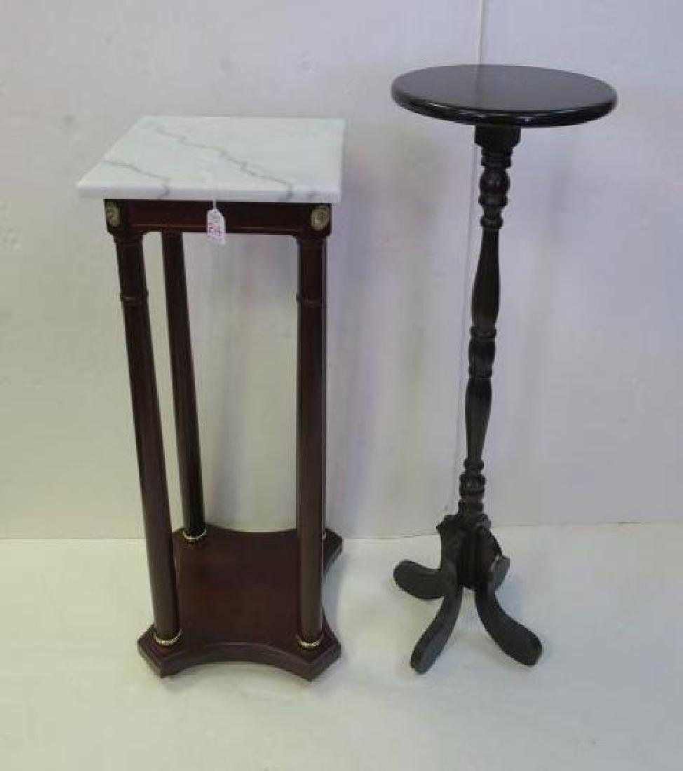 Two 20th Century Plant Mahogany Plant Stands:
