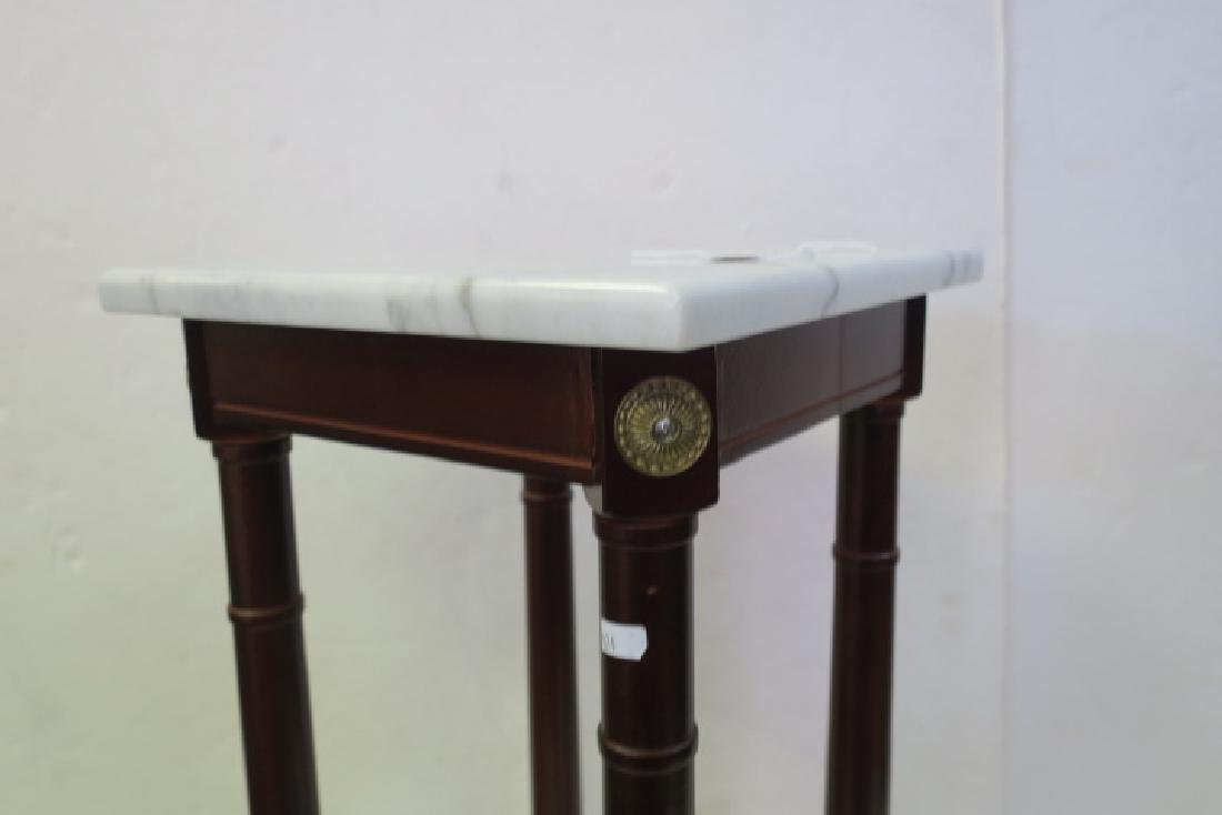 Two 20th Century Plant Mahogany Plant Stands: - 2