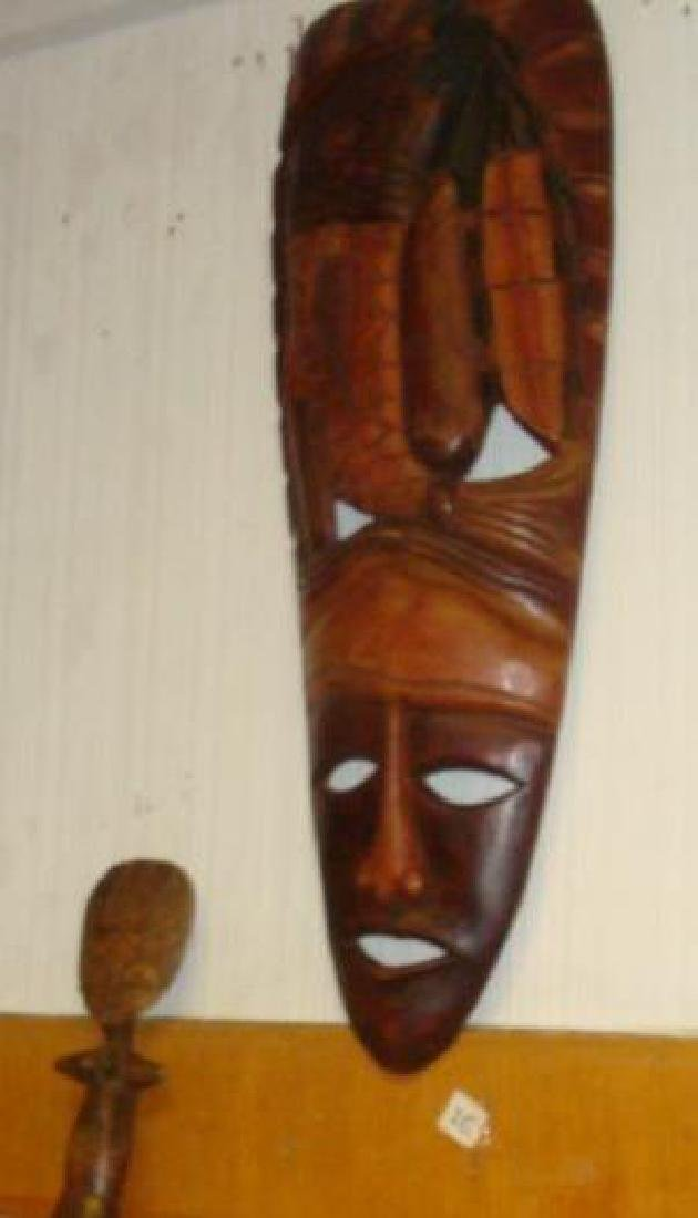 Collection of Seven African Masks and Figure: - 2