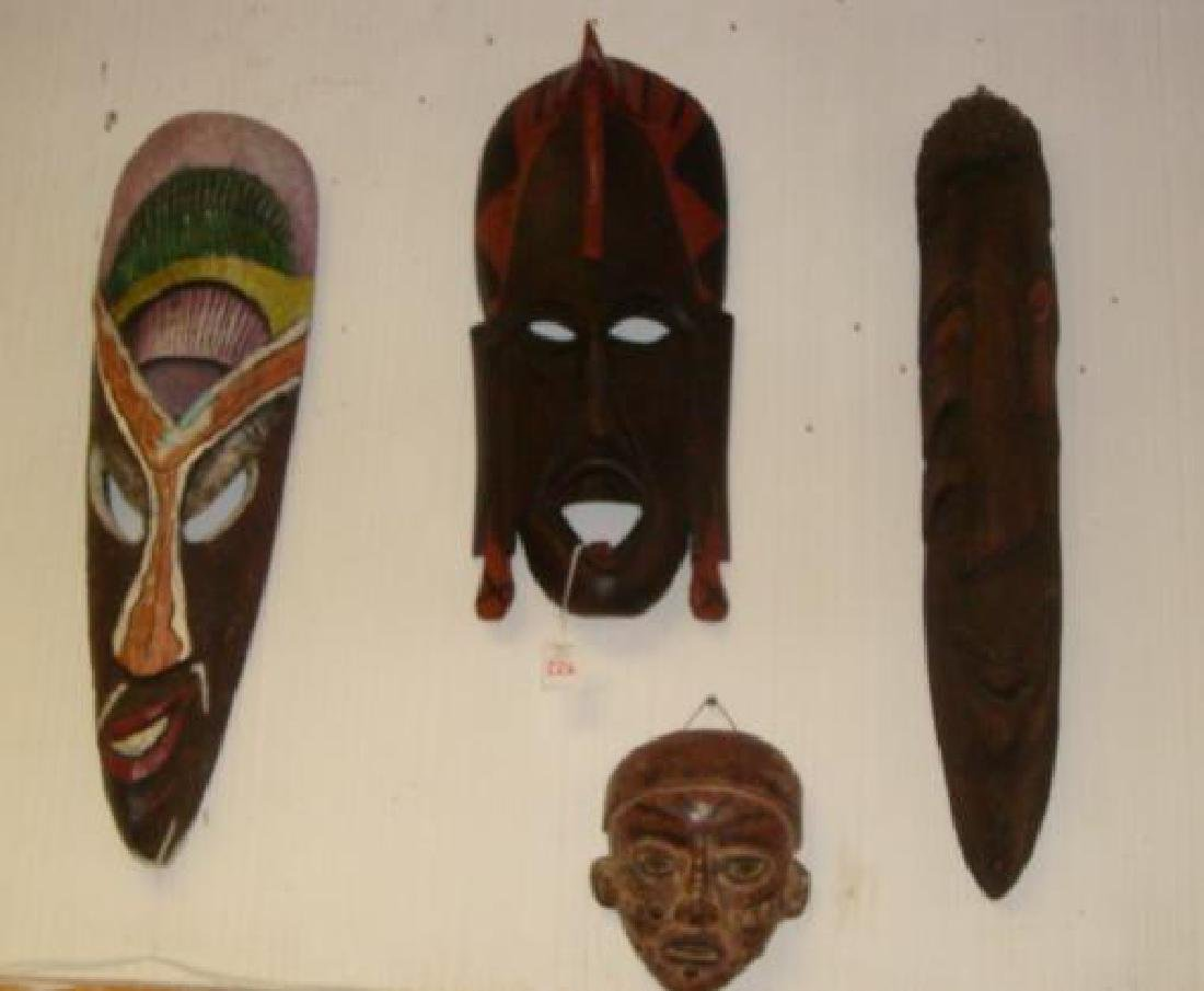 Collection of Seven African Masks and Figure: - 3