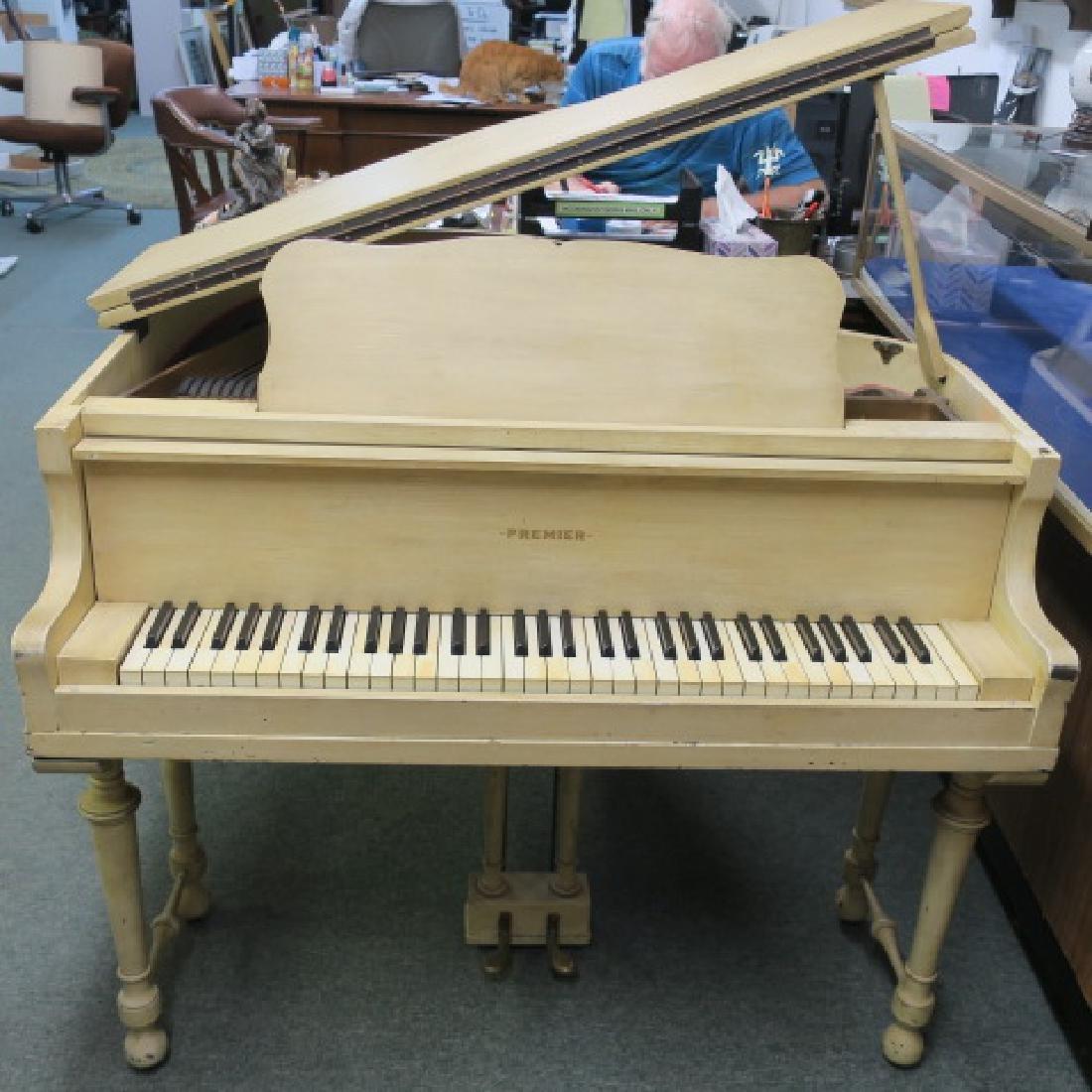 Rare PREMIER PIANO CORP Petite Parlor Grand Piano: