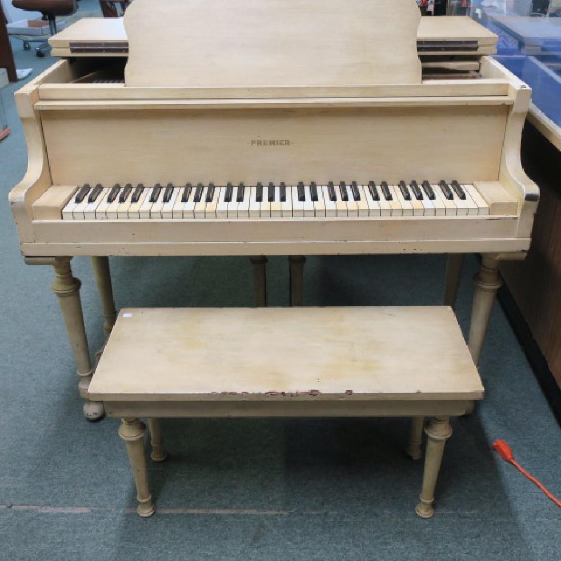 Rare PREMIER PIANO CORP Petite Parlor Grand Piano: - 3