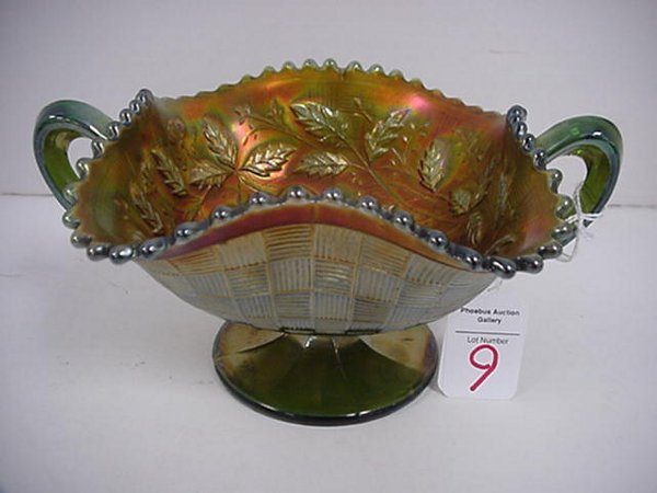 9: Northwood Fruits & Flowers Carnival Dish: