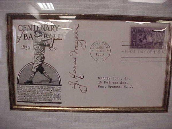 141: J. Honus Wagner Autographed 1st Day Cove