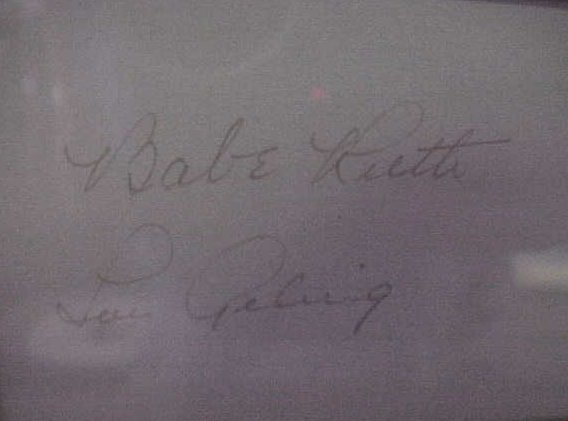 143: Babe Ruth & Lou Gehrig Double Autograph: