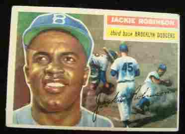 TOPPS 1956 #30 JACKIE ROBINSON, Baseball Card: