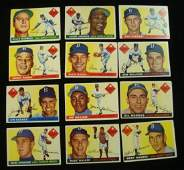 1955 TOPPS 12 BROOKLYN DODGERS, World Series Cards:
