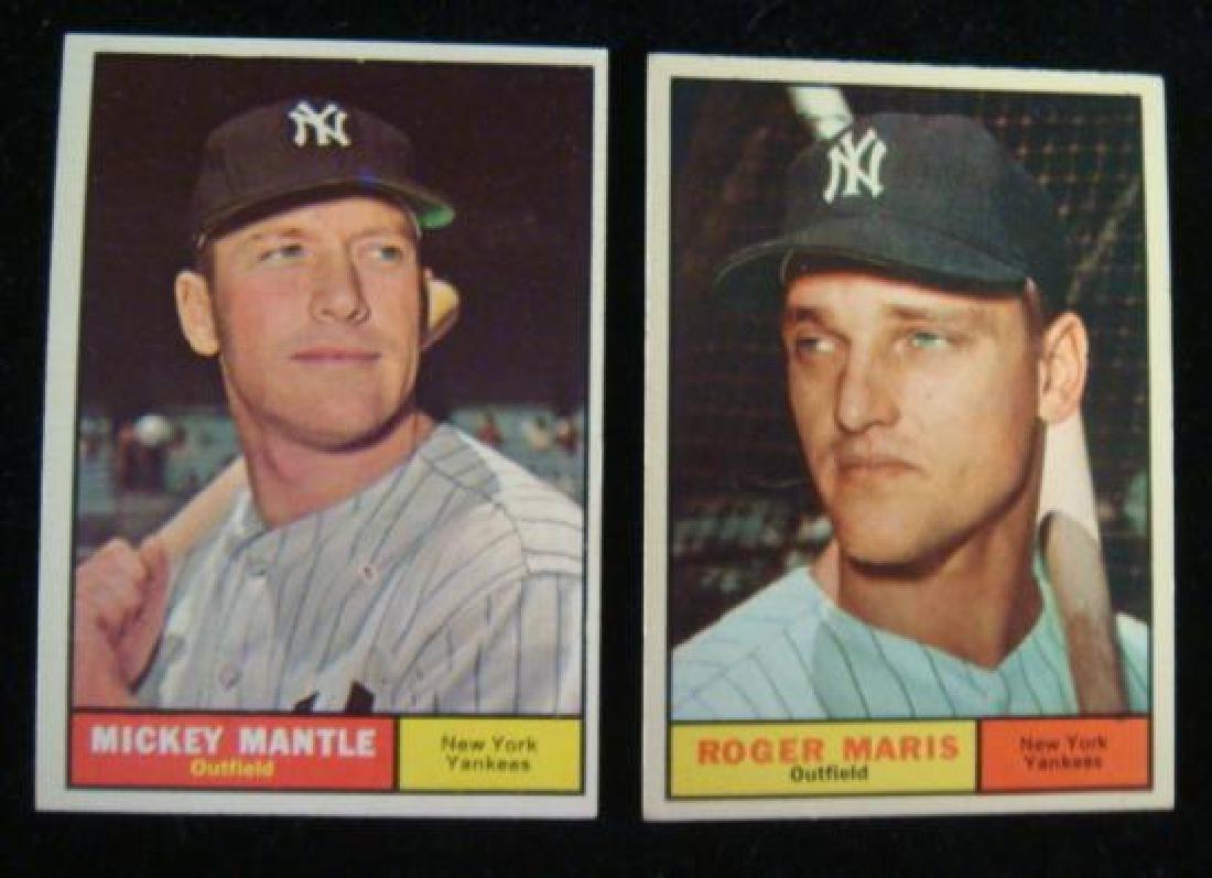 1961 Topps Mm Boys Mantle Maris Baseball Cards