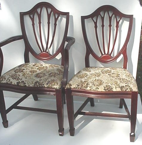 315: Set of Four Mahogany Shield Back Chairs: