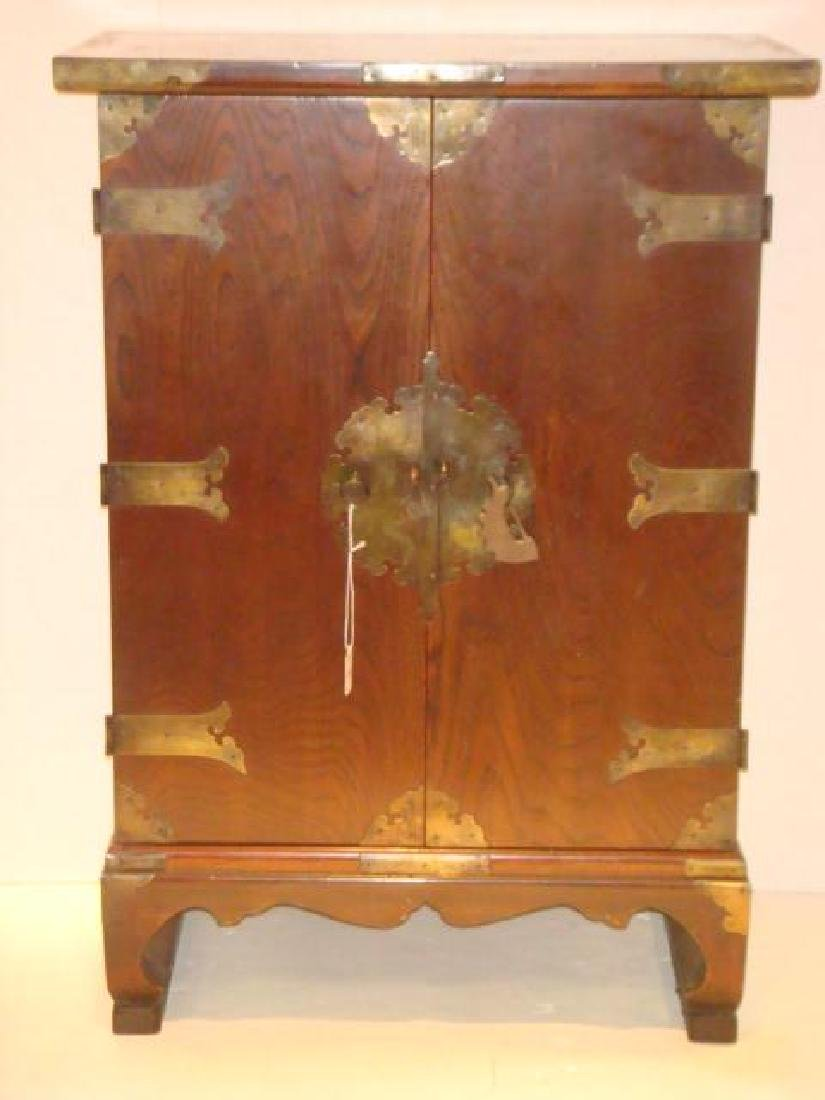 Asian Cabinet with Swingout Doors: - 2