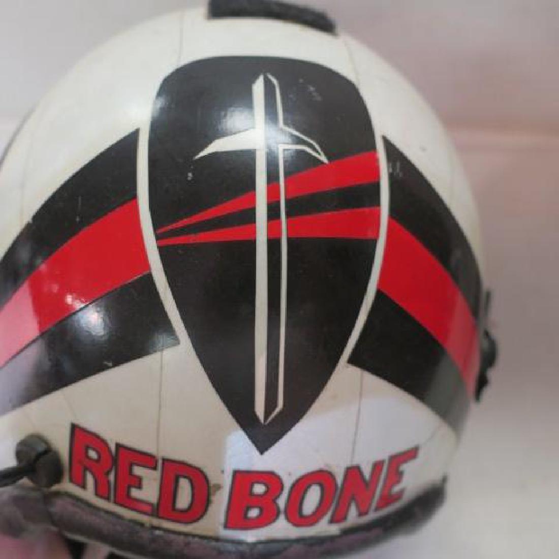 US NAVY Jet Fighter Pilots RED BONE Helmet: - 2