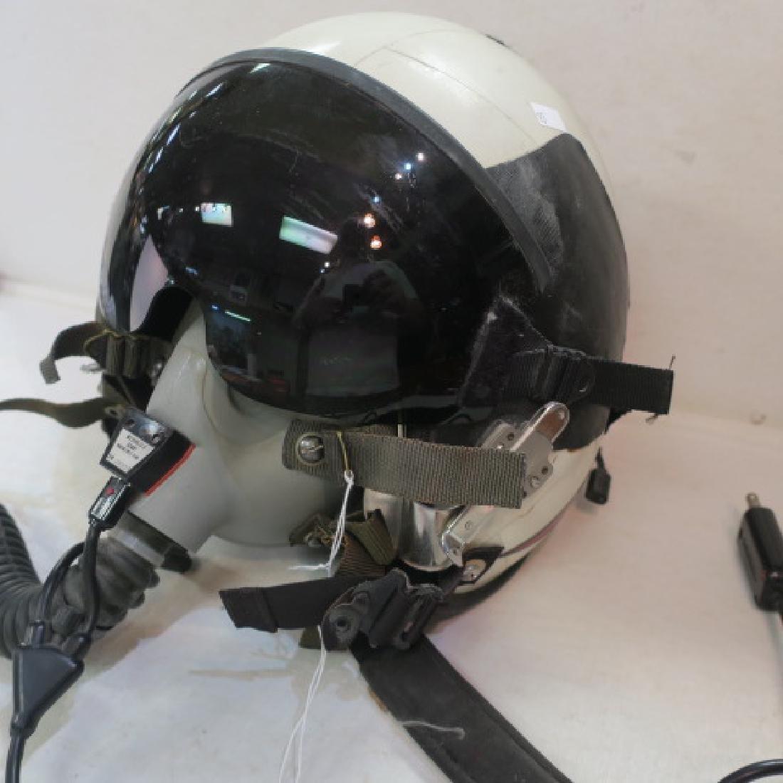 US NAVY Jet Fighter Pilots RED BONE Helmet: - 4