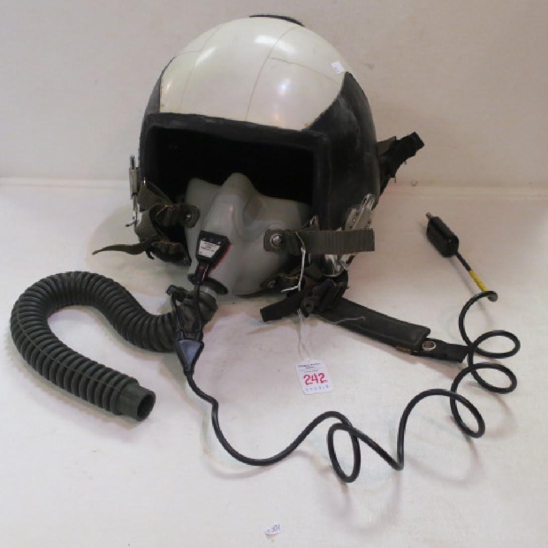 US NAVY Jet Fighter Pilots RED BONE Helmet: - 5