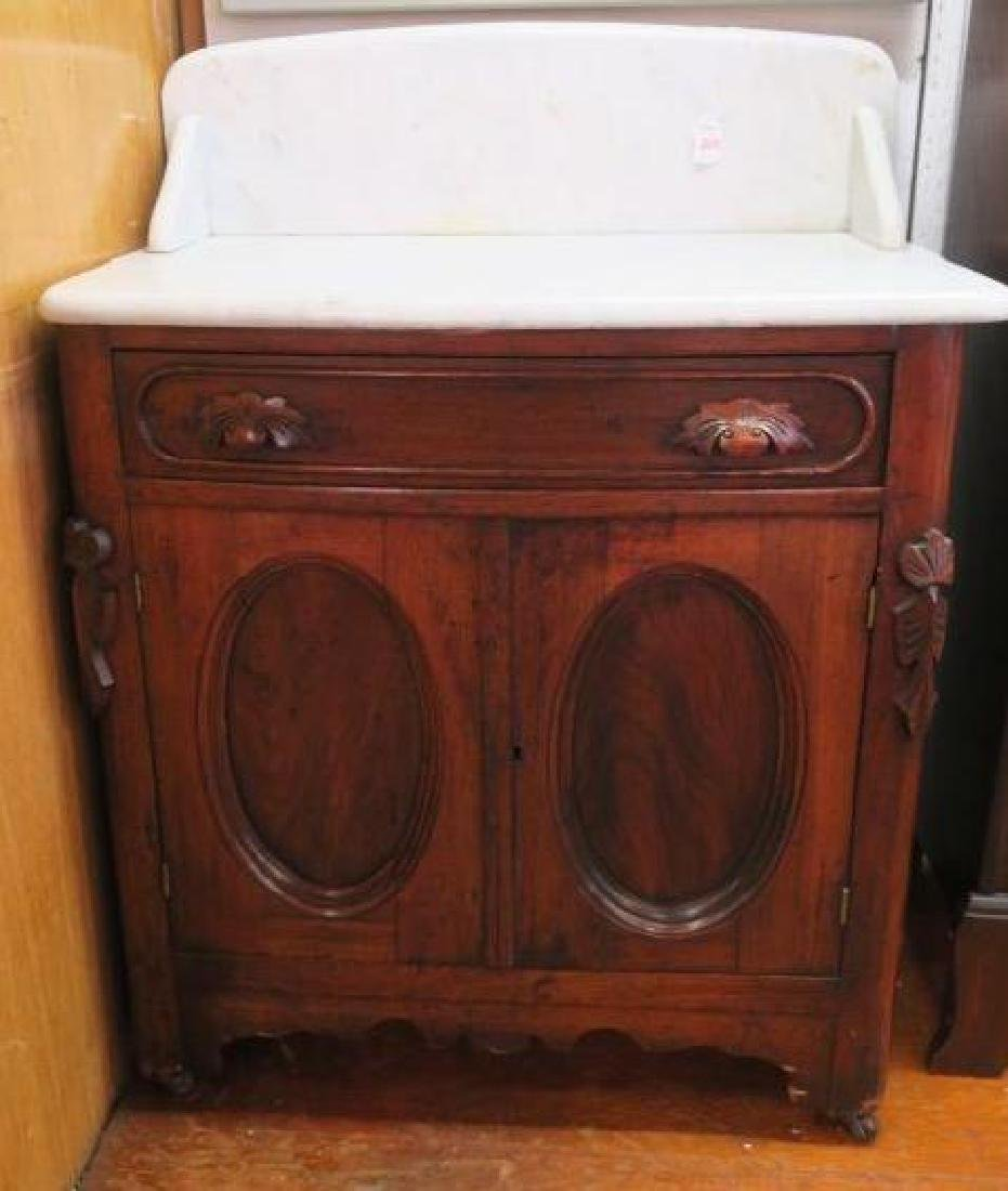 Mid 19th C. Marble Top Wash Stand: