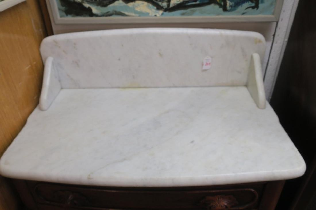 Mid 19th C. Marble Top Wash Stand: - 3