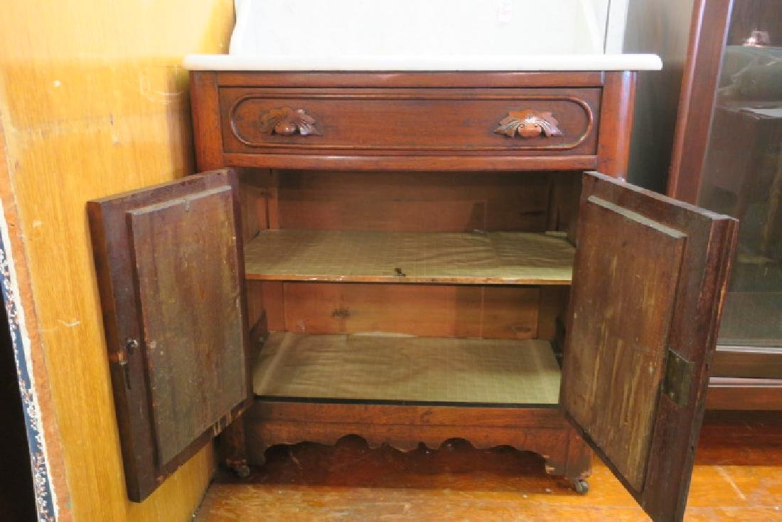 Mid 19th C. Marble Top Wash Stand: - 4